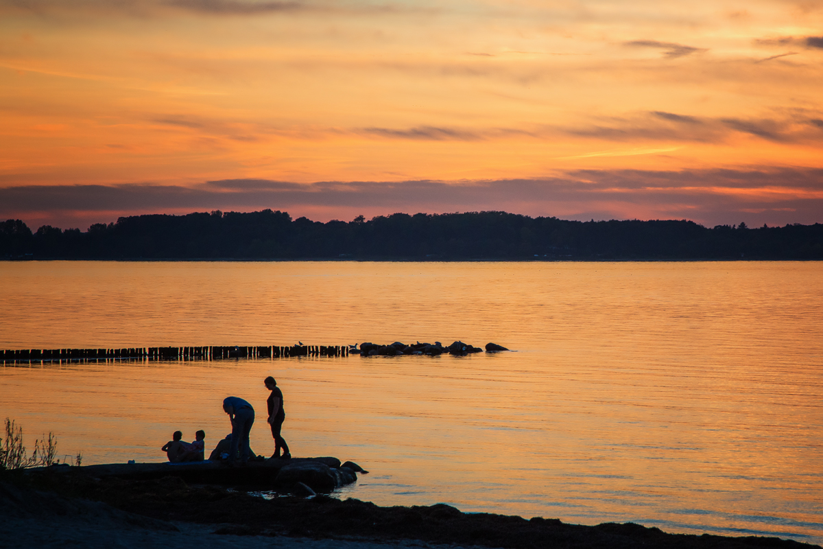 Ostsee am Abend, Silhouette
